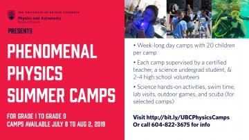 Phenomenal Physics Summer Camps!