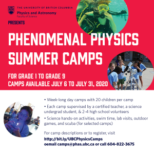 Phenomenal Physics Summer Camps!